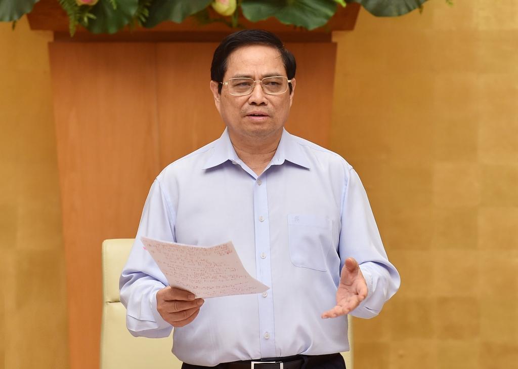 Thủ tướng Phạm Minh Chính chủ trì hội nghị.