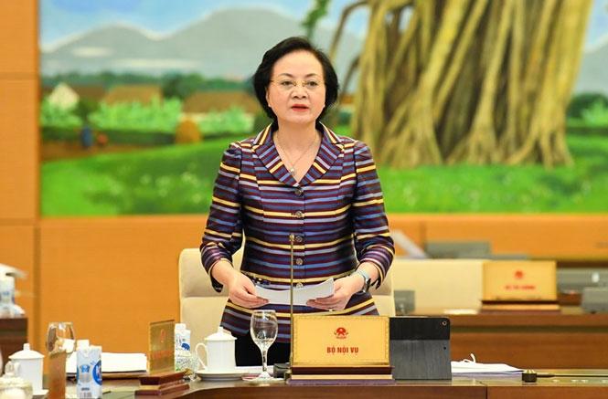 Bộ trưởng Bộ Nội vụ Phạm Thị Thanh Trà