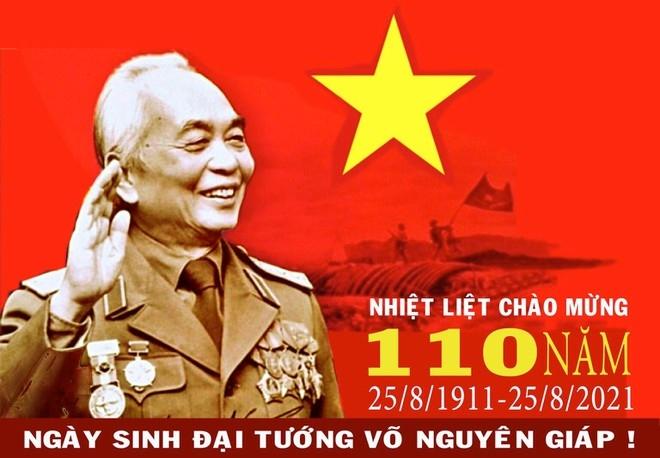 Tranh cổ động tuyên truyền kỷ niệm 110 năm Ngày sinh Đại tướng Võ Nguyên Giáp