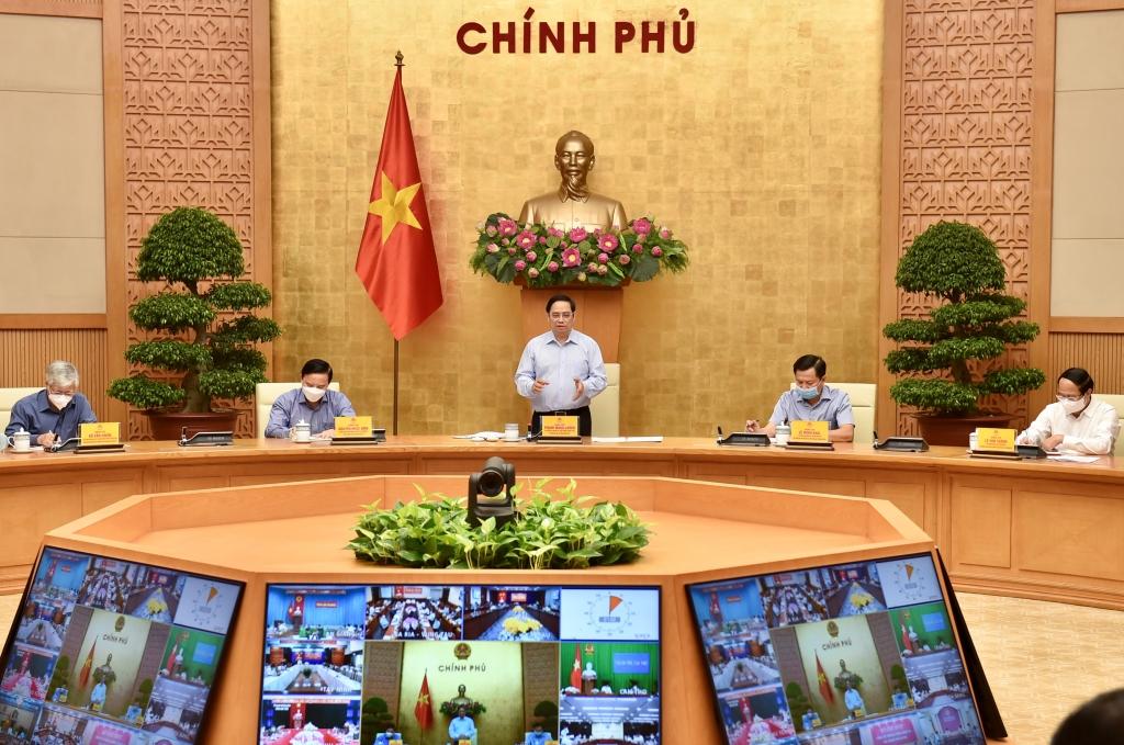 Thủ tướng Chính phủ Phạm Minh Chính phát biểu mở đầu cuộc họp - Ảnh: VGP/Nhật Bắc