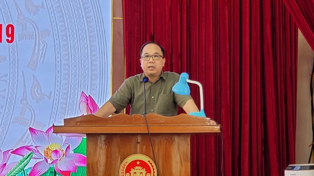 Đồng chí Nguyễn Mạnh Hưng, Tổng biên tập báo Tuổi trẻ Thủ đô phát biểu ý kiến tại chương trình