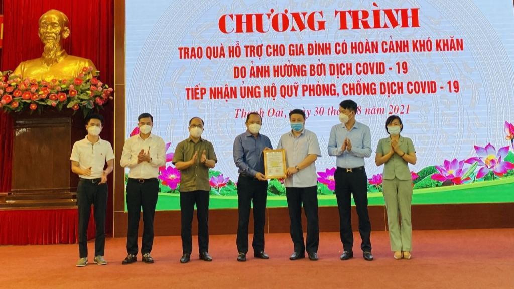 Lãnh đạo Huyện ủy Thanh Oai tri ân các doanh nghiệp
