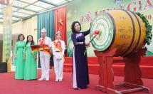 truong thcs nguyen tri phuong tung bung le khai giang xanh 2019 2020