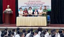 Học trò trường Trần Quốc Toản cam kết chấp hành quy định an toàn giao thông