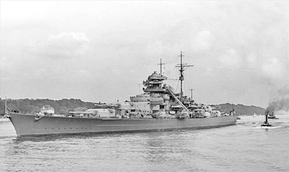 Thiết giáp hạm Birsmarck. Ảnh: Wiki