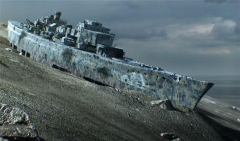 Xác tàu Bismarck. Ảnh: NAT GEO