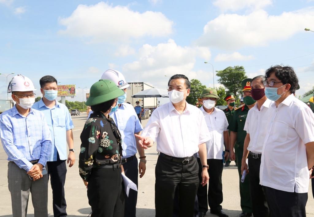 Chủ tịch UBND TP Chu Ngọc Anh kiểm tra tại khu vực