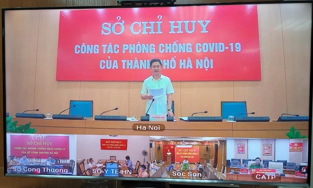 Phó Chủ tịch UBND TP Hà Nội Hà Minh Hải phát biểu tại buổi giao ban