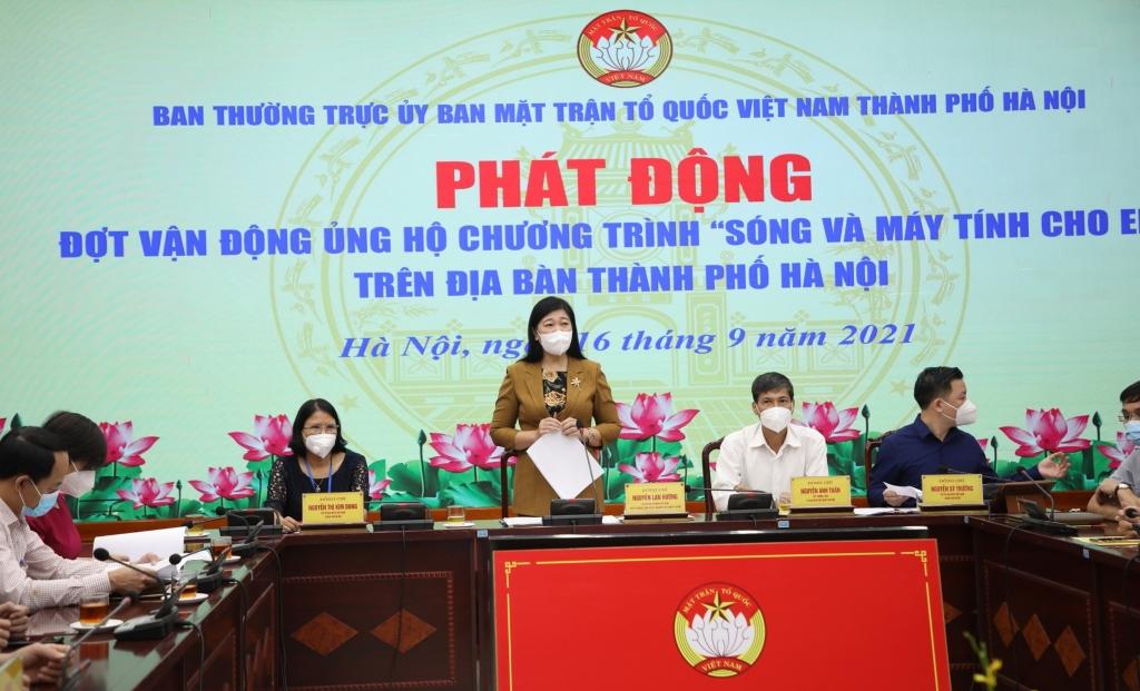 """MTTQ Việt Nam TP Hà Nội phát động ủng hộ chương trình """"Sóng và máy tính cho em"""""""
