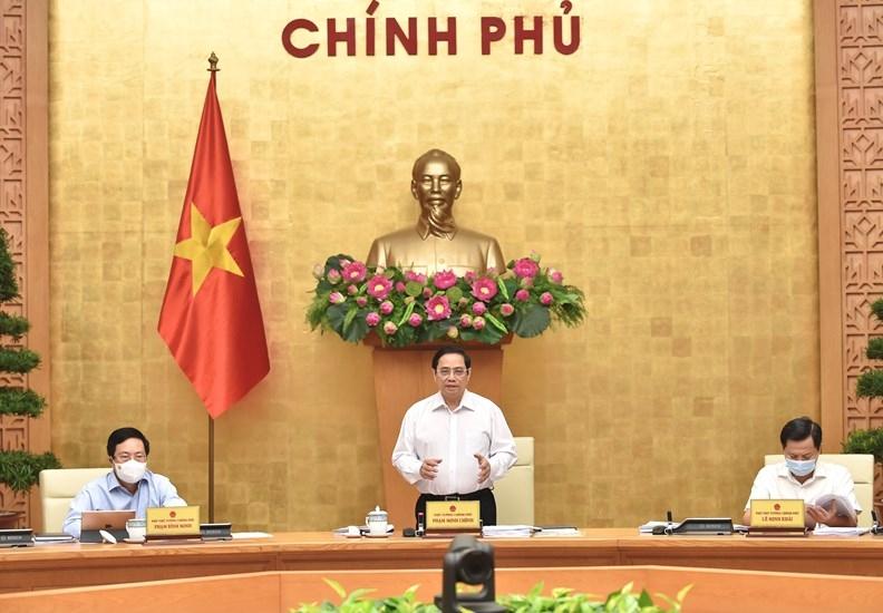Thủ tướng Chính phủ Phạm Minh Chính chủ trì phiên họp Chính phủ thường kỳ tháng 8/2021