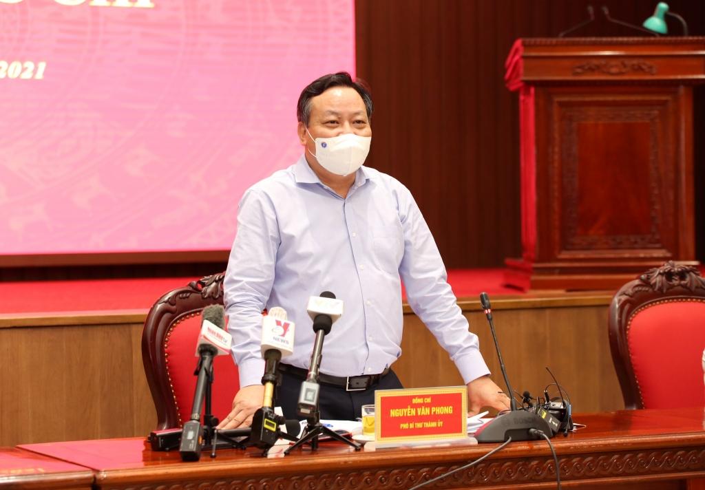 Phó Bí thư Thành ủy Nguyễn Văn Phong kết luận hội nghị