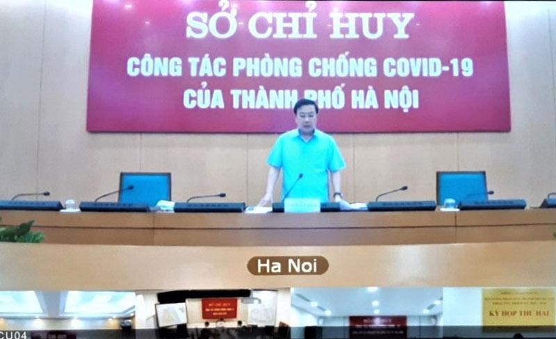 Phó Chủ tịch UBND thành phố Chử Xuân Dũng chủ trì họp giao ban.