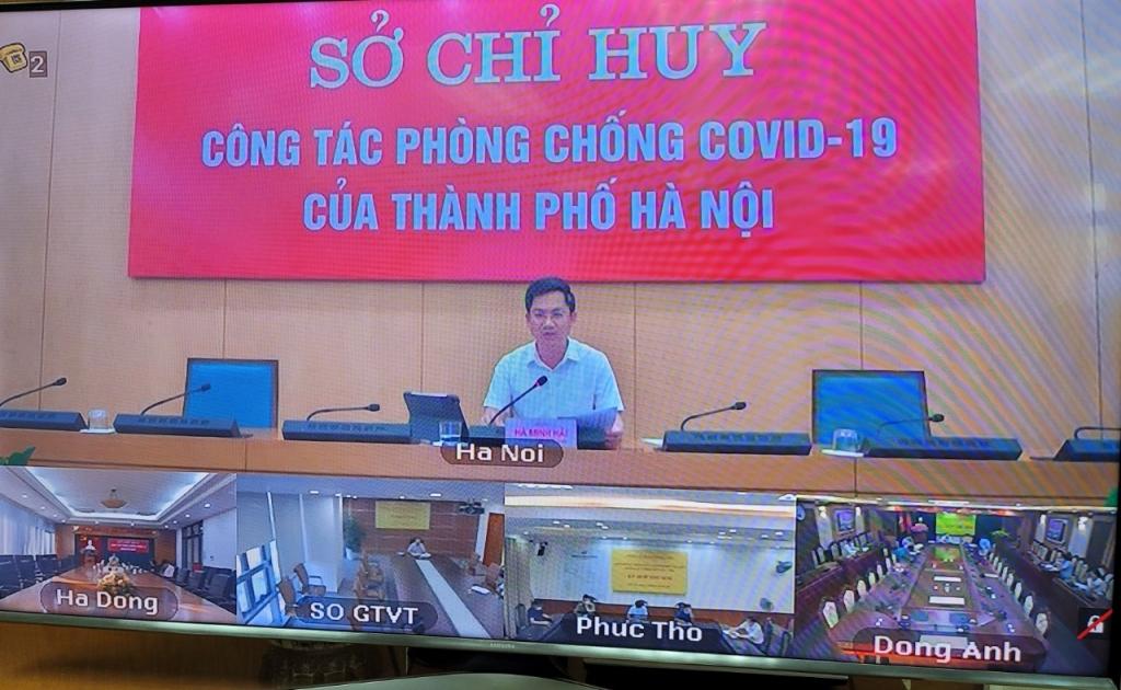 Phó Chủ tịch UBND TP Hà Minh Hải chủ trì buổi giao ban