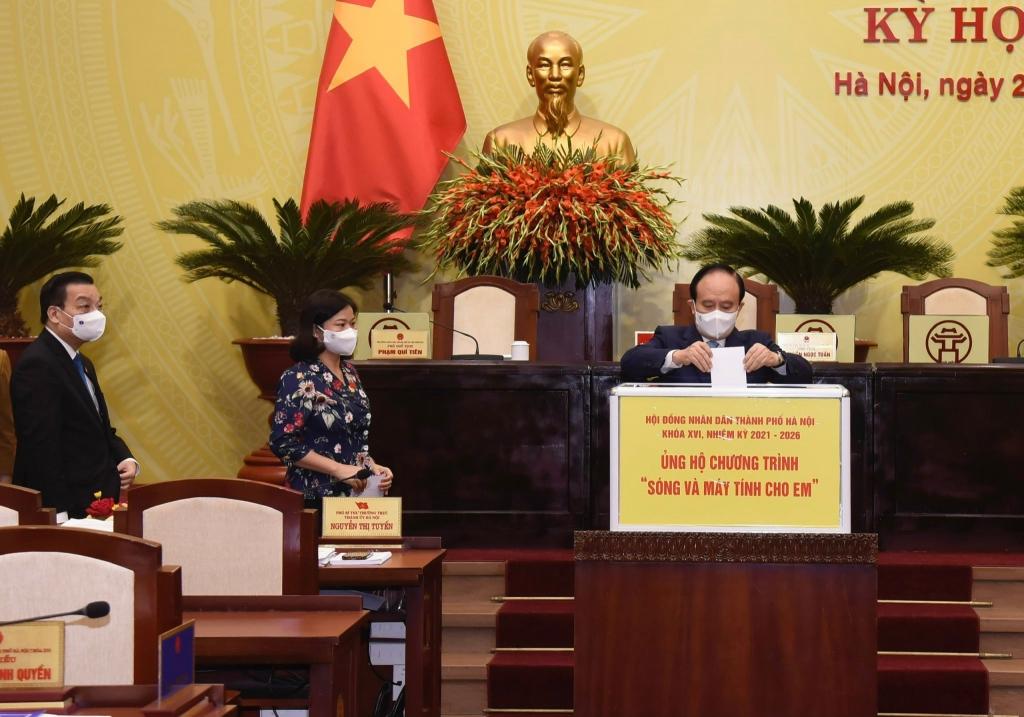 Đại biểu HĐND TP Hà Nội ủng hộ chương trình