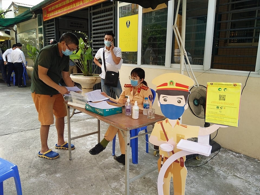 Việc đăng ký phương tiện đảm bảo công tác phòng dịch