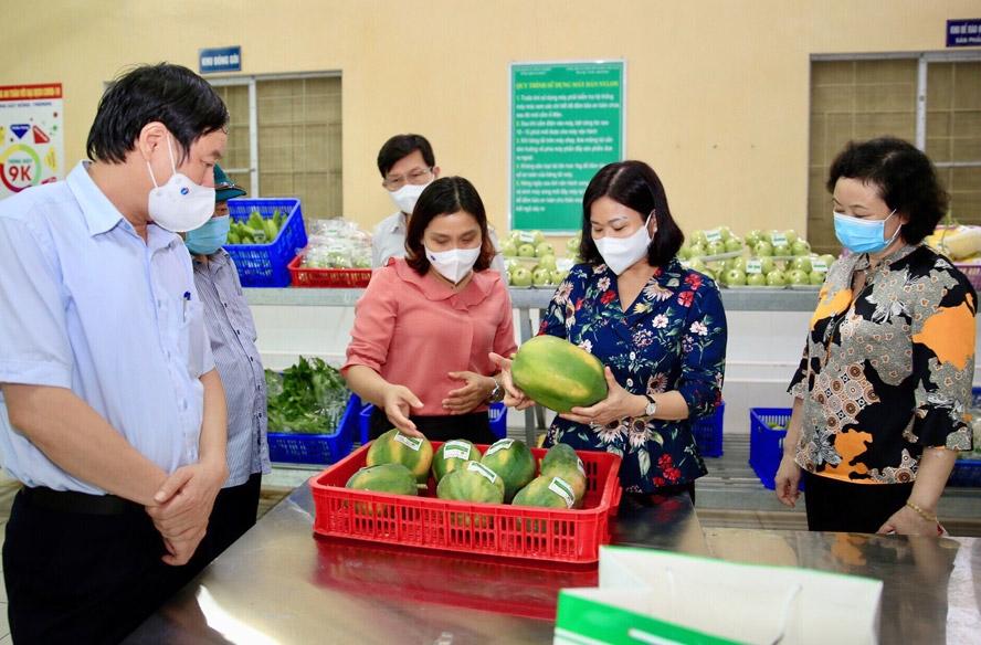 Phó Bí thư Thường trực Thành ủy Hà Nội Nguyễn Thị Tuyến thăm, động viên sản xuất và kiểm tra công tác phòng, chống dịch Covid-19 tại Hợp tác xã An Phát