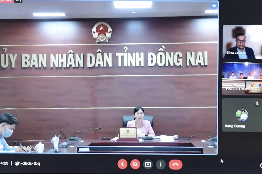 Phó Chủ tịch UBND tỉnh Đồng Nai Nguyễn Thị Hoàng: Chúng tôi lắng nghe các khó khăn cũng như kiến nghị của doanh nghiệp - Ảnh VGP/Nhật Bắc