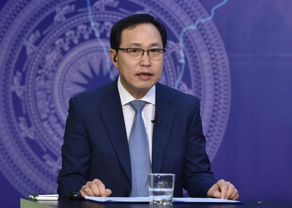 Tổng Giám đốc tổ hợp Samsung Việt Nam Choi Joo Ho: Việt Nam đang cung cấp một môi trường đầu tư hấp dẫn… - Ảnh VGP/Nhật Bắc