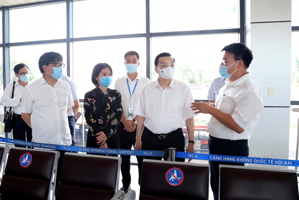Chủ tịch UBND TP Chu Ngọc Anh kiểm tra tại