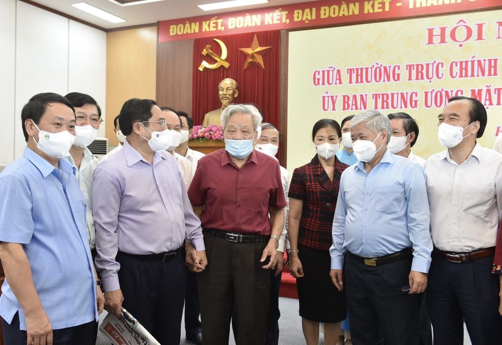 Thủ tướng Chính phủ Phạm Minh Chính và các đại biểu dự Hội nghị - Ảnh: VGP/Nhật Bắc
