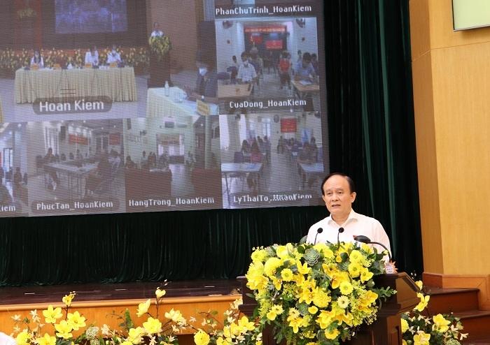Chủ tịch HĐND TP Nguyễn Ngọc Tuấn phát biểu tại kỳ họp