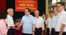 Bí thư Thành ủy Hoàng Trung Hải tiếp xúc cử tri thị xã Sơn Tây