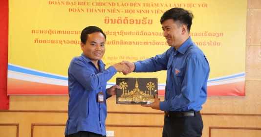 Giao lưu giữa Đoàn Thanh niên Cách mạng Lào và ĐHQGHN
