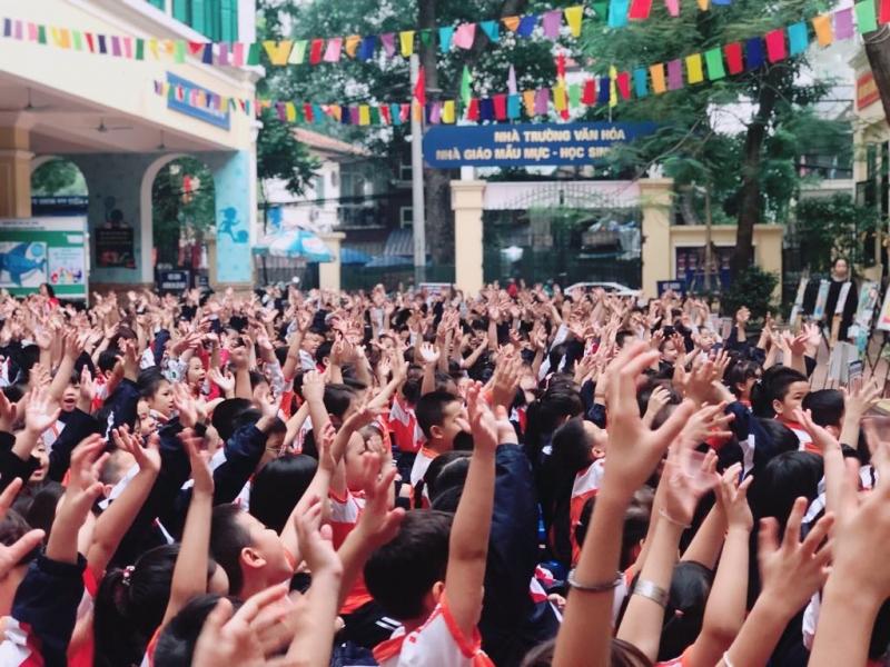Nâng cao nhận thức bảo vệ môi trường cho học sinh Tiểu học Trưng Vương