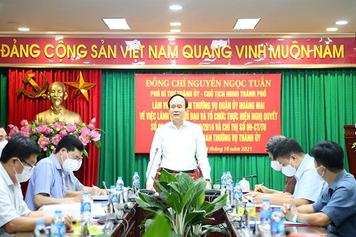 Phó Bí thư Thành ủy, Chủ tịch HĐND TP Nguyễn Ngọc Tuấn phát biểu kết luận buổi giám sát