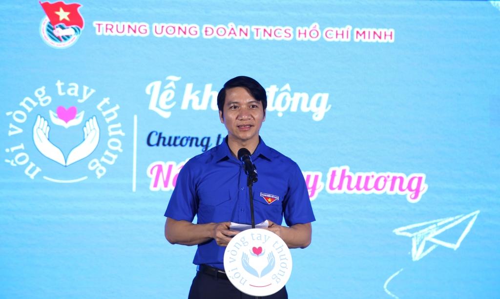 Bí thư Trung ương Đoàn Nguyễn Ngọc Lương phát biểu khai mạc chương trình