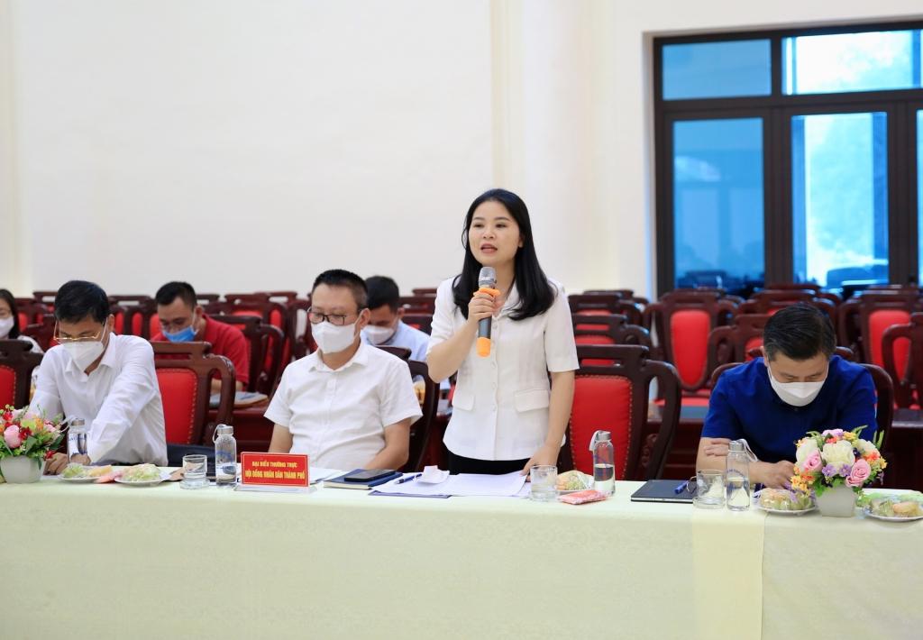 Bí thư Thành đoàn Hà Nội Chu Hồng Minh phát biểu tại hội nghị