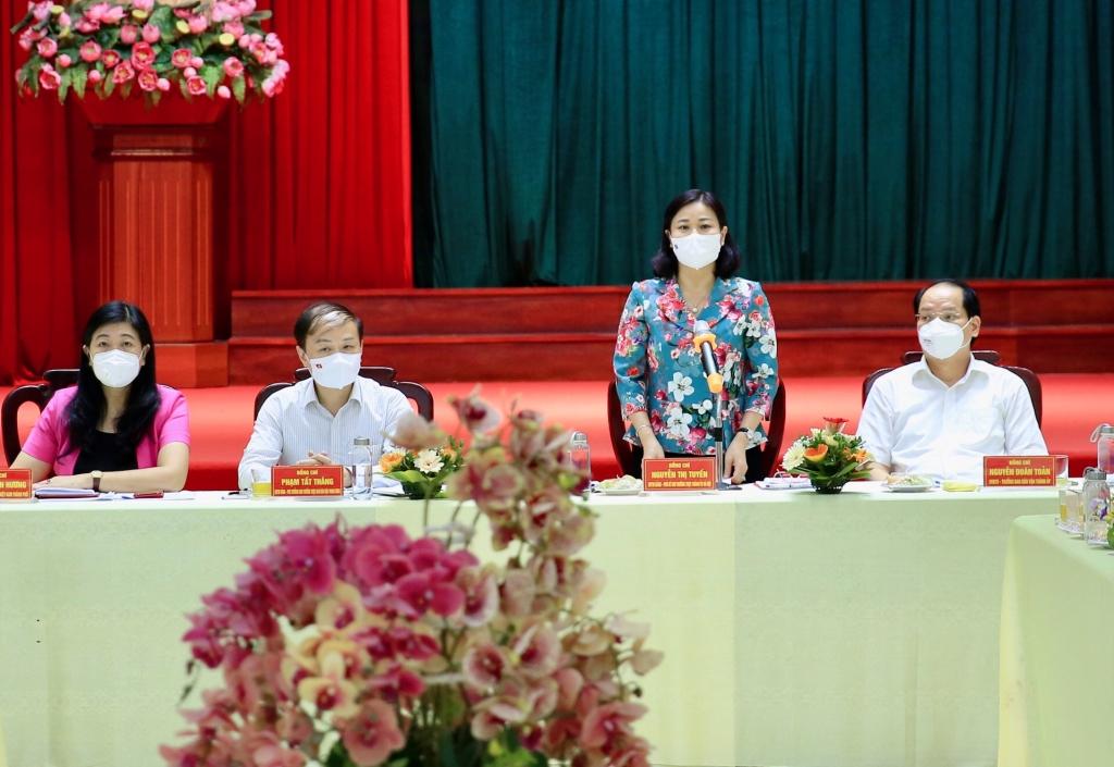 Phó Bí thư Thường trực Thành ủy Nguyễn Thị Tuyến kết luận hội nghị