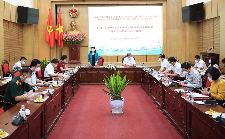 Phó Bí thư Thường trực Thành ủy Nguyễn Thị Tuyến kết luận buổi làm việc