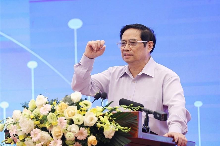 Thủ tướng Chính phủ Phạm Minh Chính phát biểu kết luận tại hội thảo.