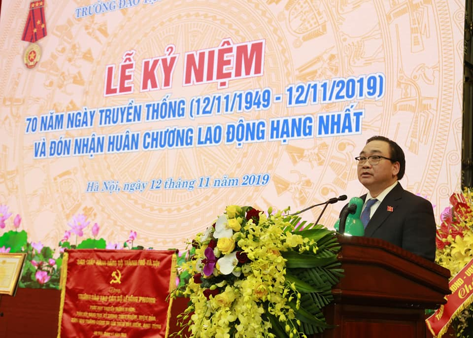 truong dao tao can bo le hong phong don nhan huan chuong lao dong hang nhat
