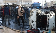 video kinh hoang vu danh bom xe khien 19 nguoi thiet mang o syria