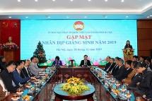 Mặt trận Tổ quốc thành phố Hà Nội gặp mặt các chức sắc nhân dịp Giáng sinh