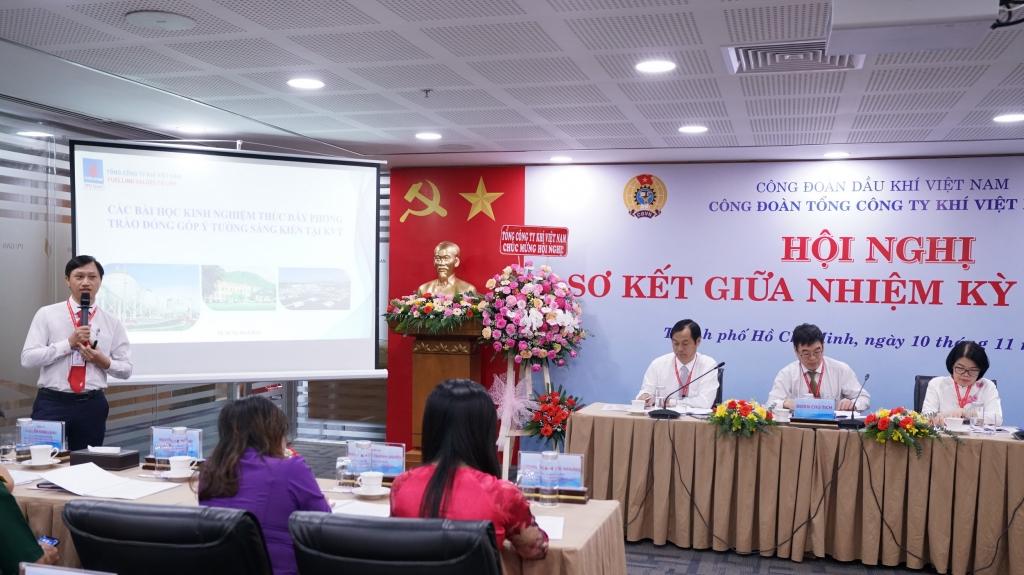 Đại diện Công đoàn KCM tham luận về phong trào thực hiện Văn hóa doanh nghiệp