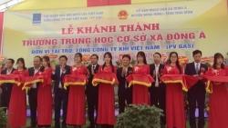 PV GAS tài trợ xây dựng trường THCS Đông Á, Thái Bình