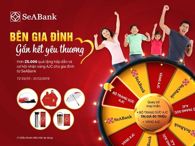 chuc mung khach hang cua seabank trung bo trang suc vang tri gia 80 trieu dong