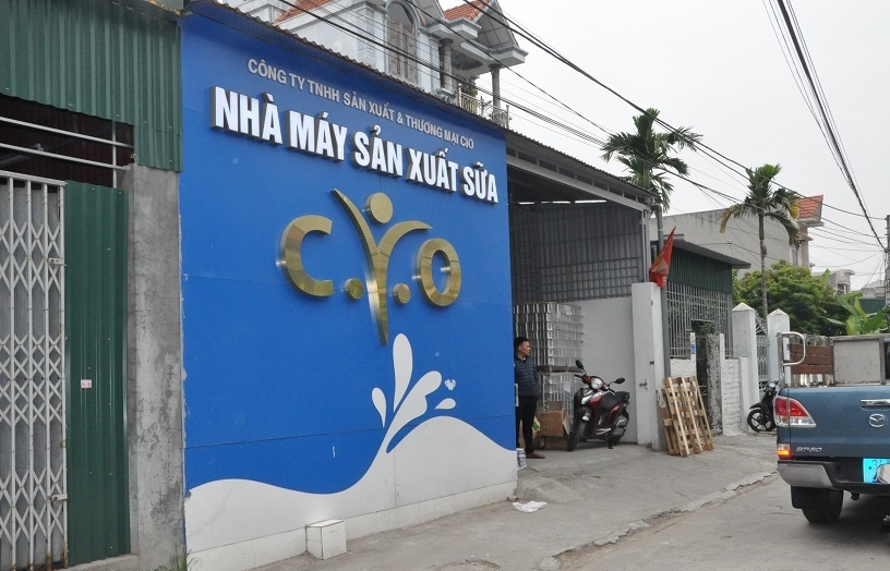 Khởi tố điều tra Công ty Quốc tế CIO sản xuất sữa kém chất lượng