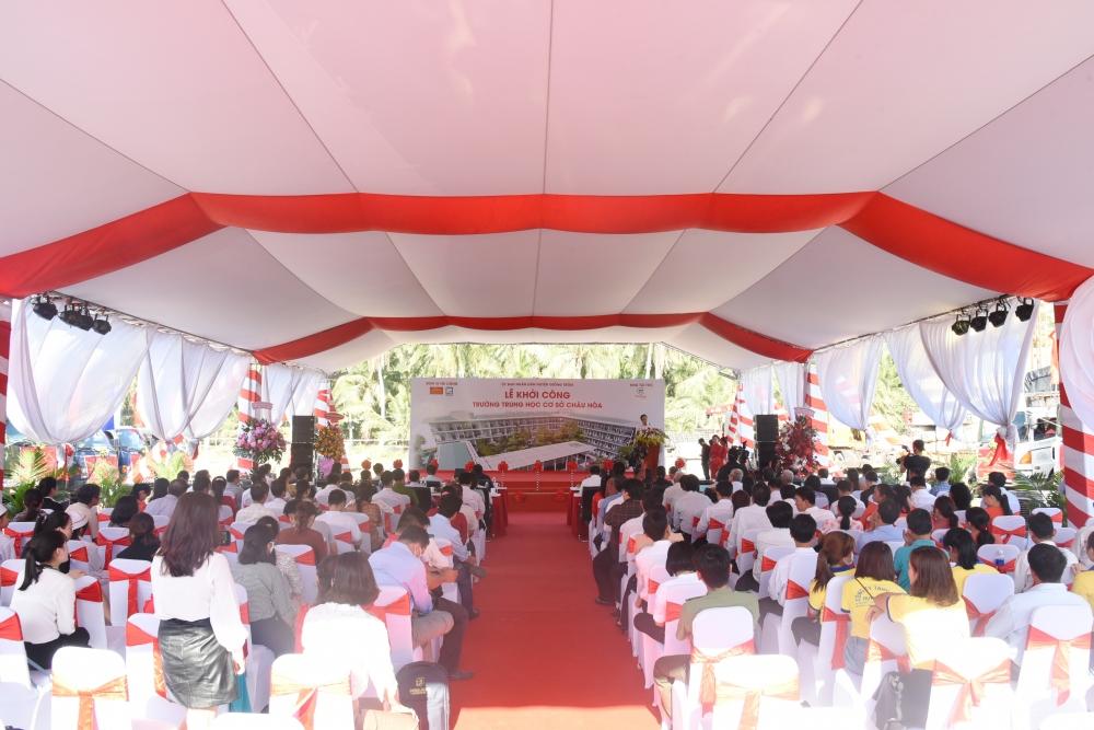 Trungnam Group tài trợ kinh phí xây dựng Trường THCS Châu Hòa tỉnh Bến Tre