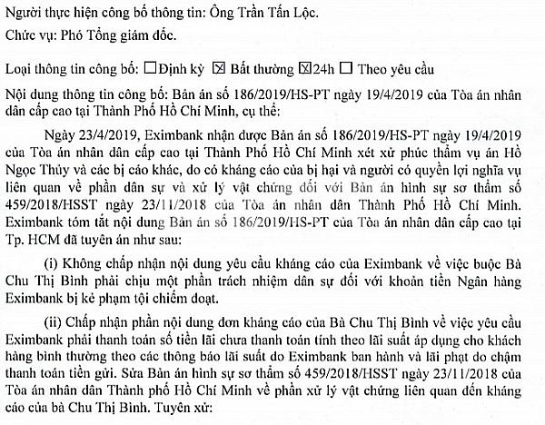 eximbank da tra 115 ty dong tien lai cho ba chu thi binh