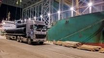 Hòa Phát Dung Quất lần đầu xuất khẩu thép ra nước ngoài