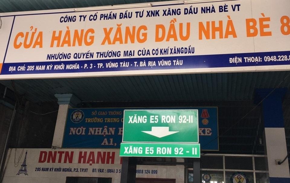 Doanh nghiệp ở Bà Rịa - Vũng Tàu có hai cửa hàng xăng dầu bán hàng kém chất lượng