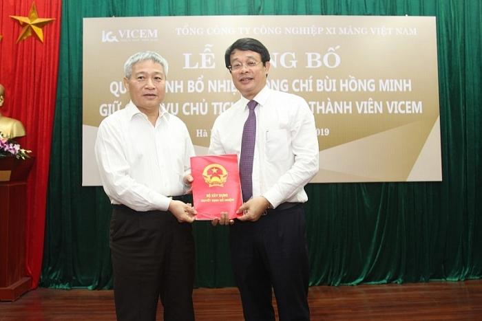 Chủ tịch VICEM Bùi Hồng Minh làm Thứ trưởng Bộ Xây dựng
