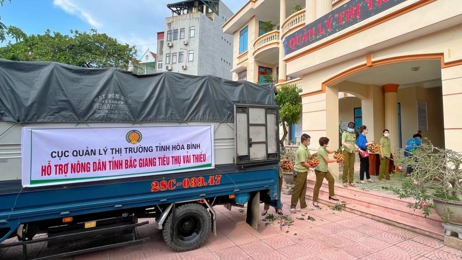 Quản lý thị trường cam kết hỗ trợ Bắc Giang tiêu thụ 3.000 tấn vải thiều