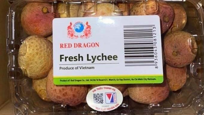 Vải thiều Việt Nam lên kệ siêu thị Singapore giá 120.000 đồng/kg