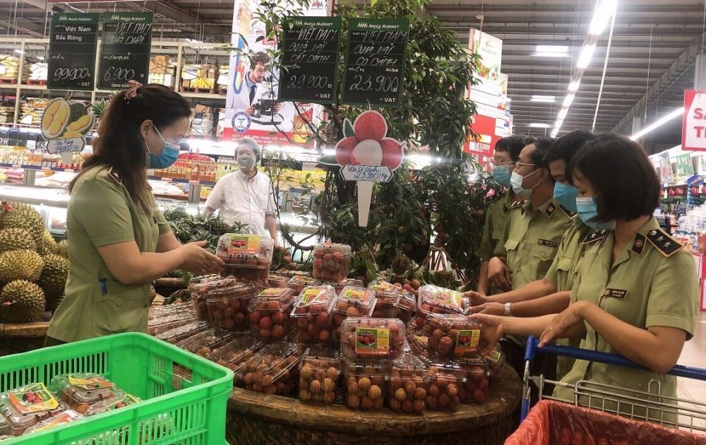 Vải thiều Bắc Giang được kết nối tiêu thụ trong chuỗi siêu thị Mega Market