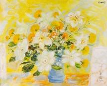 """Bức tranh """"Đời hoa"""" của danh họa Lê Phổ được mua với giá 35.000 USD"""